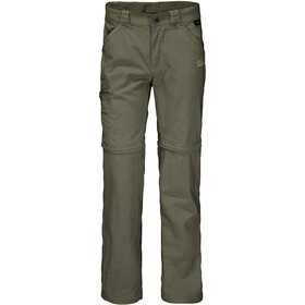 Jack Wolfskin Safari Zip-Off Hose Kinder woodland green